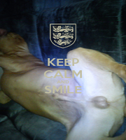 KEEP CALM AND SMILE  - Personalised Poster A1 size