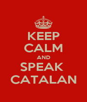 KEEP CALM AND SPEAK  CATALAN - Personalised Poster A1 size