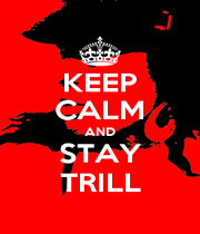 KEEP CALM AND STAY TRILL - Personalised Poster A1 size