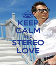 KEEP CALM AND STEREO LOVE - Personalised Poster A1 size
