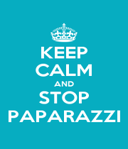 KEEP CALM AND STOP PAPARAZZI - Personalised Poster A1 size