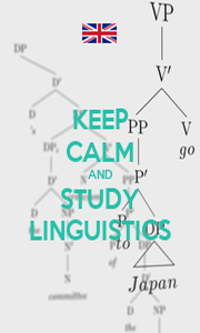KEEP CALM AND STUDY LINGUISTICS - Personalised Poster A1 size