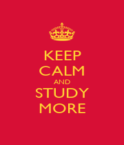 KEEP CALM AND STUDY MORE - Personalised Poster A1 size