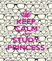 KEEP CALM AND STUDY PRINCESS - Personalised Poster A1 size