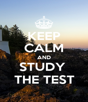 KEEP CALM AND STUDY  THE TEST - Personalised Poster A1 size