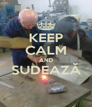 KEEP CALM AND SUDEAZĂ  - Personalised Poster A4 size