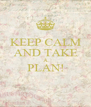 KEEP CALM AND TAKE A PLAN!  - Personalised Poster A4 size