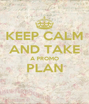 KEEP CALM AND TAKE A PROMO PLAN  - Personalised Poster A4 size