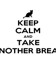 KEEP CALM AND TAKE ANOTHER BREAK - Personalised Poster A1 size