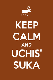 KEEP CALM AND UCHIS' SUKA - Personalised Poster A1 size