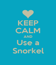 KEEP CALM AND Use a Snorkel - Personalised Poster A1 size