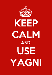 KEEP CALM AND USE YAGNI - Personalised Poster A1 size