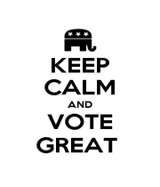 KEEP CALM AND VOTE GREAT  - Personalised Poster A1 size