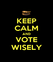 KEEP CALM AND VOTE WISELY - Personalised Poster A1 size