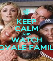 KEEP CALM AND WATCH ROYALE FAMILY - Personalised Poster A1 size