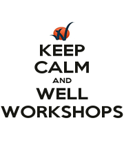 KEEP CALM AND WELL WORKSHOPS - Personalised Poster A1 size