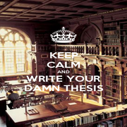 KEEP CALM AND WRITE YOUR DAMN THESIS - Personalised Poster A4 size