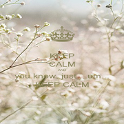 KEEP CALM AND you know, just....um... KEEP CALM - Personalised Poster A1 size