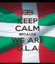 KEEP CALM BECAUSE WE ARE G.L.A - Personalised Poster A1 size