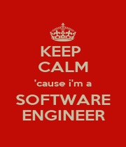 KEEP  CALM 'cause i'm a SOFTWARE ENGINEER - Personalised Poster A1 size