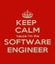 KEEP  CALM 'cause i'm the SOFTWARE ENGINEER - Personalised Poster A4 size