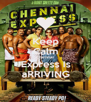 Keep Calm Chennai  Express Is aRRIVING - Personalised Poster A4 size