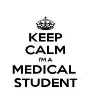 KEEP CALM I'M A MEDICAL  STUDENT - Personalised Poster A4 size