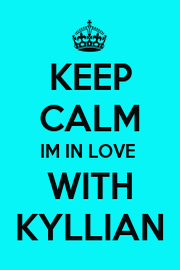 KEEP CALM IM IN LOVE  WITH KYLLIAN - Personalised Poster A4 size