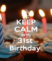 KEEP CALM Its My 31st  Birthday  - Personalised Poster A4 size