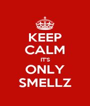 KEEP CALM IT'S ONLY SMELLZ - Personalised Poster A4 size
