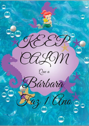 KEEP CALM Que a Bárbara  Faz 1 Ano - Personalised Poster A1 size