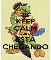 KEEP CALM QUE O  ESTÁ CHEGANDO - Personalised Poster A1 size