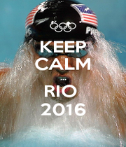 KEEP CALM ... RIO  2016 - Personalised Poster A4 size