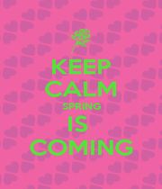 KEEP CALM SPRING IS  COMING - Personalised Poster A1 size
