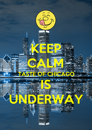 KEEP CALM TASTE OF CHICAGO IS UNDERWAY - Personalised Poster A4 size