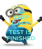 KEEP CALM THE  TEST IS  FINISHED - Personalised Poster A1 size