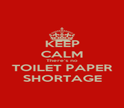 KEEP CALM There's no TOILET PAPER SHORTAGE - Personalised Poster A1 size