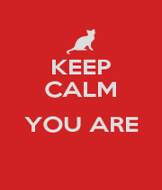 KEEP CALM  YOU ARE  - Personalised Poster A1 size