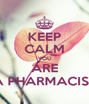 KEEP CALM YOU ARE A PHARMACIST - Personalised Poster A1 size