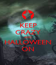 KEEP CRAZY AND HALLOWEEN ON - Personalised Poster A4 size
