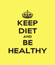 KEEP DIET AND BE HEALTHY - Personalised Poster A1 size