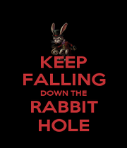 KEEP FALLING DOWN THE RABBIT HOLE - Personalised Poster A1 size