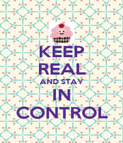 KEEP REAL AND STAY IN CONTROL - Personalised Poster A1 size