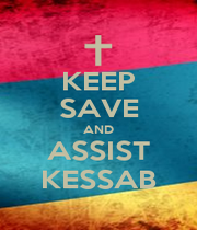KEEP SAVE AND ASSIST KESSAB - Personalised Poster A4 size
