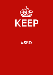 KEEP  #SRD   - Personalised Poster A1 size
