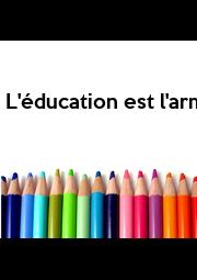 L'éducation est l'arme la plus puissante qu'on puisse utiliser pour sauver le monde - Personalised Poster A1 size
