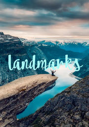 landmarks - Personalised Poster A1 size