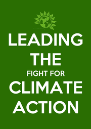 LEADING THE FIGHT FOR CLIMATE ACTION - Personalised Poster A1 size