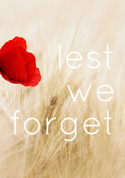 lest we forget - Personalised Poster A1 size