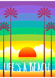 LIFE'S A BEACH - Personalised Poster A4 size